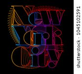 colorful new york city... | Shutterstock .eps vector #1045102591