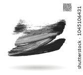 grey brush stroke and texture.... | Shutterstock .eps vector #1045106431