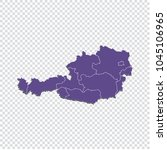 austria map   high detailed... | Shutterstock .eps vector #1045106965