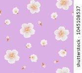 sakura painting pattern. | Shutterstock . vector #1045108537