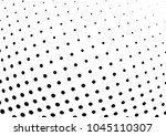 abstract halftone wave dotted... | Shutterstock .eps vector #1045110307
