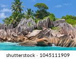 beautiful tropical st. pierre...   Shutterstock . vector #1045111909
