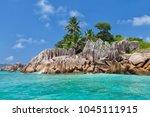 beautiful tropical st. pierre...   Shutterstock . vector #1045111915
