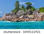 beautiful tropical st. pierre...   Shutterstock . vector #1045111921