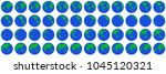 globe rotation animation sprite ... | Shutterstock .eps vector #1045120321