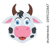 a front close up view of cow... | Shutterstock .eps vector #1045122667