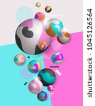 abstract  background with 3d... | Shutterstock .eps vector #1045126564