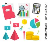 business management and finance ... | Shutterstock .eps vector #1045135264