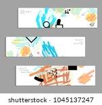 abstract universal art web... | Shutterstock .eps vector #1045137247