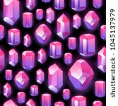 seamless colorful crystals... | Shutterstock .eps vector #1045137979