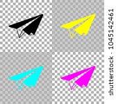 paper plane. origami glider....