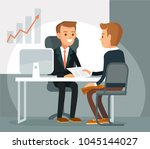 illustration with business... | Shutterstock .eps vector #1045144027