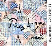 seamless background pattern.... | Shutterstock .eps vector #1045145491