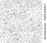 summer seamless pattern with... | Shutterstock .eps vector #1045146217
