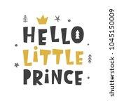 nursery print. hello little...   Shutterstock .eps vector #1045150009
