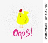 funny cartoon chicken. | Shutterstock .eps vector #1045152709