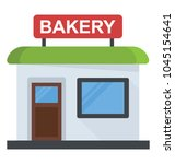 flat icon design of a bakery | Shutterstock .eps vector #1045154641