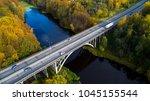 beautiful autumn landscape... | Shutterstock . vector #1045155544