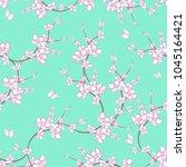 sakura painting pattern. | Shutterstock . vector #1045164421