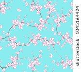 sakura painting pattern. | Shutterstock . vector #1045164424