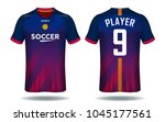 soccer jersey template.red and... | Shutterstock .eps vector #1045177561