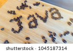 java spelt out in coffee beans   Shutterstock . vector #1045187314