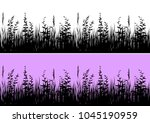 line seamless landscape with...   Shutterstock . vector #1045190959