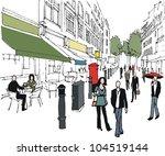 vector illustration of london... | Shutterstock .eps vector #104519144