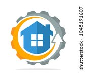 logo icon with the concept of...   Shutterstock .eps vector #1045191607