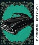 retro vintage vector 60s  50s... | Shutterstock .eps vector #1045191934
