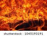 Background Fire Flame  Close U...