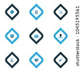 drug icons colored set with... | Shutterstock .eps vector #1045195561