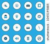 religion icons colored set with ... | Shutterstock .eps vector #1045195885