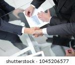 business men making handshake.... | Shutterstock . vector #1045206577