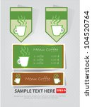 coffee  banner sign vector | Shutterstock .eps vector #104520764