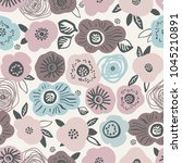 childish seamless pattern with... | Shutterstock .eps vector #1045210891