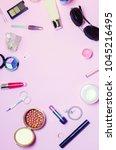 a set of female cosmetics ... | Shutterstock . vector #1045216495