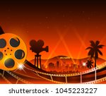 illustration of a film stripe... | Shutterstock .eps vector #1045223227