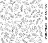 floral seamless pattern with... | Shutterstock . vector #1045223929