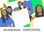 stylized illustration painting... | Shutterstock .eps vector #1045224331