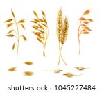 vector realistic set of cereal... | Shutterstock .eps vector #1045227484