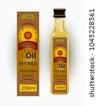 vector label for refined... | Shutterstock .eps vector #1045228561