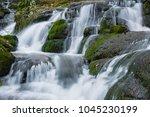 badger falls in badger dingle ... | Shutterstock . vector #1045230199