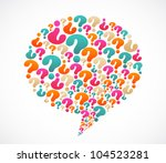 speech bubble with question... | Shutterstock .eps vector #104523281