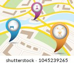 Set Of Tourism Services Map...