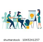 vector illustration. meetings... | Shutterstock .eps vector #1045241257