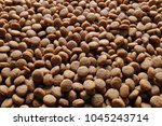 dog food background. close up... | Shutterstock . vector #1045243714
