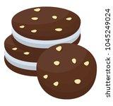 chocolate chip cream sandwich... | Shutterstock .eps vector #1045249024
