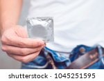 young men's jeans pocket to... | Shutterstock . vector #1045251595