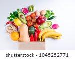 healthy food background.... | Shutterstock . vector #1045252771